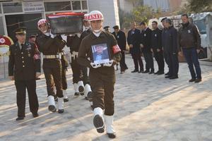 Çineli Kore Gazisi 90 yaşındaki Mustafa Kılcıoğlu askeri törenle son yolculuğuna uğurlandı.