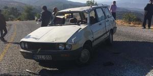 Aydın'ın Çine ilçesinde otomobilin şarampole devrilmesi sonucu iki kişi yaralandı.  ( Murat Şenbaklavacı - Anadolu Ajansı )