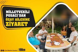 AK Parti Aydın Milletvekili Rıza Posacı, çocukları ile birlikte Çineli esnaf Salih Özay ve eşi Sevil Özay'a bayram ziyaretinde bulundu.