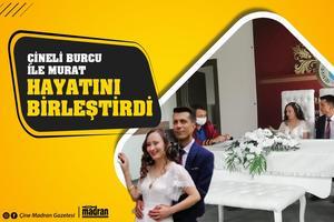 Çine'de bir kimya fabrikasında çalışan Murat Duman ile Evciler Mahalesi'nden Burcu İnce, düzenlenen sade bir nikah töreniyle yaşamını birleştirdi.