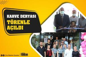Aydın'da hizmet vermeye başlayan Kahve Deryası işletmesi, açıldı. Açılış kurdelesini de Efeler Belediye Başkanı Mehmet Fatih Atay kesti.