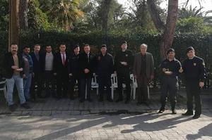 Çine İlçe Jandarma Komutanlığı tarafından şehit Jandarma Uzman Çavuş Muammer Keskin için lokma ve aşure hayrı gerçekleştirildi.