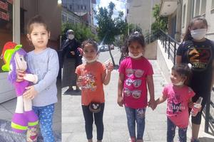 Koronavirüsle mücadele kapsamında sokağa çıkmaları yasaklanan ve bayramı evlerinde geçiren 14 yaş ve altı çocuklar 11.00-15.00 saatleri arasında üçüncü kez dışarı çıktı.