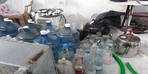 Aydın'ın Çine ilçesinde jandarmanın düzenlediği operasyonda 900 litre kaçak içki ve içki yapımında kullanılan malzemeler ele geçirildi.