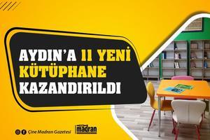 """Aydın'da """"Mesleki Eğitimde 1000 Okul Projesi"""" kapsamındaki 11 meslek lisesinin yeni kütüphaneleri oluşturuldu."""