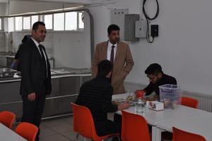 Aydın Adnan Menderes Üniversitesi (ADÜ) Rektörü Prof. Dr. Osman Selçuk Aldemir, Çine Meslek Yüksekokulunu ziyaret etti.